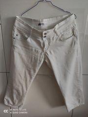 Weiße 3 4 Jeans von