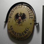 Antikes Blechschild Alter Wirtshaustisch Schreiset