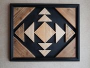 Holzbild Dekoration Geometrisches Wandbild Native