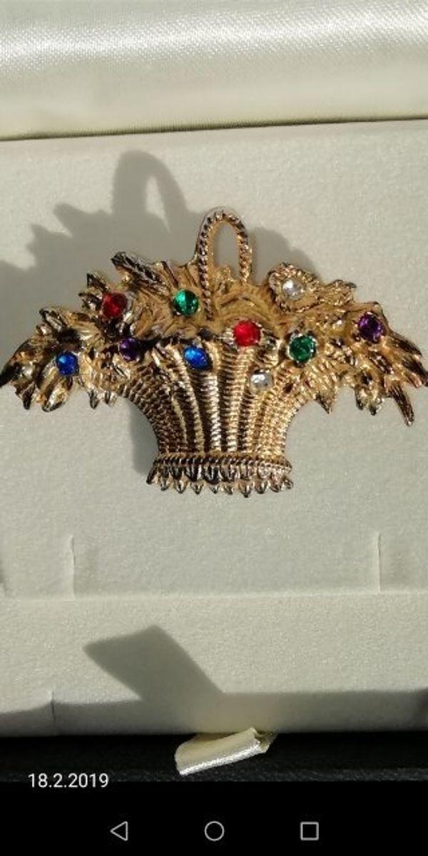 Antike Gold Brosche Unikat Brosche18tes