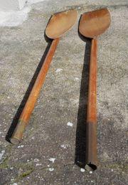 Holzpaddel als Dekoration f Faltboot