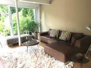 Büffel-Leder-ECK-Sofa mit Patina wegen Umzug