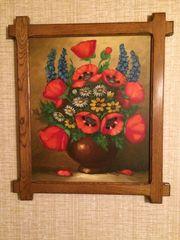Tolles Blumenstillleben - Bild Öl auf