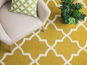 Teppich gelb 80 x 150