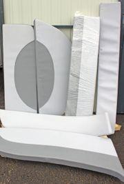 Polstersatz Kunstleder grau dunkelgrau für