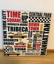 Leinwand Bild New York Districts