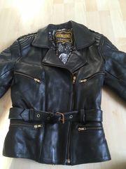Genuine Leather Motorrad Jacke