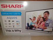 NEUER TV Fernseher Sharp 43