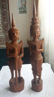 Thailand Tempelwächter Holz handgefertigt