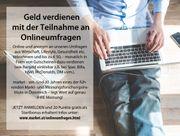 ONLINEUMFRAGEN - TEILNEHMER m w für
