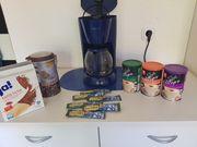 Kaffeemaschine von Clairtronic in blau
