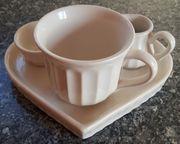 Porzellan-Herz Kaffee-Set