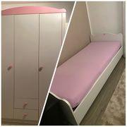 Kinderzimmer Bett Kleiderschrank Bettrahmen Matratze