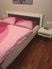 Modernes doppelbett