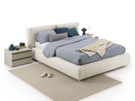 Betten - Kuscheliges Diotti Nuvola Doppelbett 160x200cm