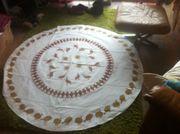 Dekoration wertige runde Tischdecke Küche