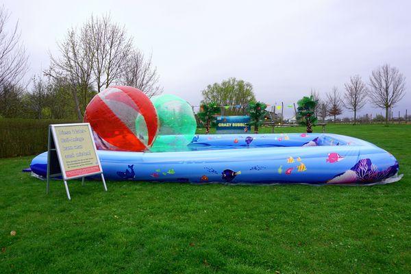 Standplätze für Schausteller Water-Walking-Ball Anlage