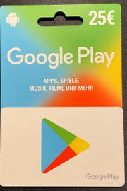 Google Play Card 25 Euro