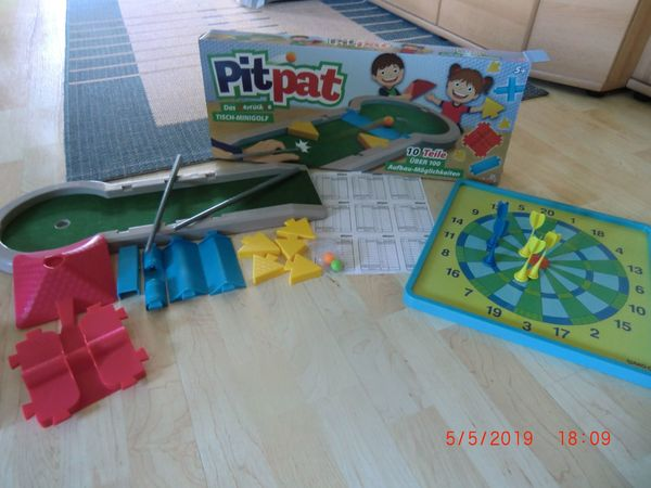 Spieleset Pitpat Tischminigolf Kinderdartscheibe