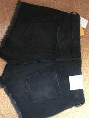 Damen-Shorts schwarz mit Fransen neu