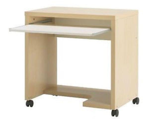 IKEA Mikael Computertisch auf Rollen -
