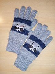 Kinder Handschuhe gestrickt Winter Motiv
