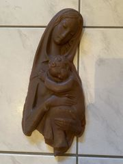 2x Marienfigur aus Wachs inkl