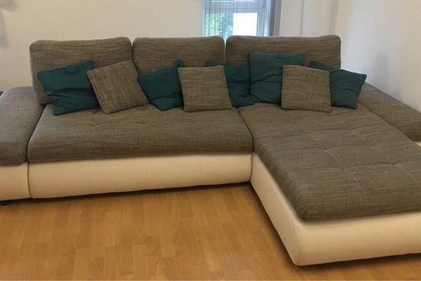 Couch Wohnlandschaft Sofa Grauweiß In Berg Polster Sessel