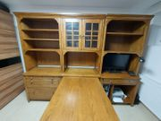 Büromöbel Echtholz Schreibtisch Unterschränke Oberschränke