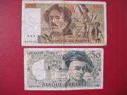 2 x Banknote Geldschein Frankreich