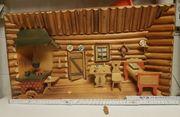 3D Holzbild Bauernstube