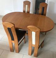 Esstisch ausziehbar mit Stühlen - Eiche