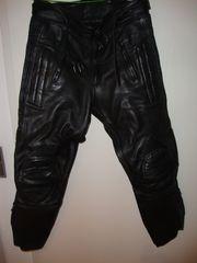 Motorradlederhose schwarz Gr 50 guter