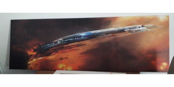 Leinwandbild Raumschiff Normandy Mass Effect