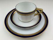 HUTSCHENREUTHER Sammelgedeck Blau Gold Kaffeetasse