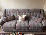 3-Sitzer Sofa Sessel und Fußhocker