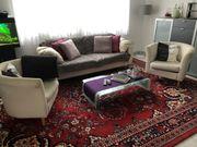 3-Sitzer Couch mit 2 Sesseln