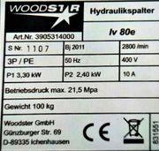 Woodstar Hydraulikspalter Iv 80e