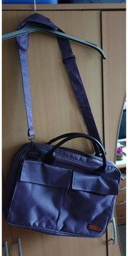 Laptop Tasche lila-schwarz