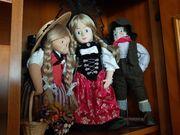 4 Handgemachte Puppen aus der