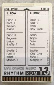 Wersi Memory-Card Rhythm ROM 13