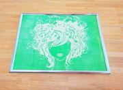 Bild Deko Stickerei grünes Bild