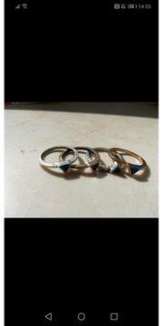 4 Kleine Ringe gold und