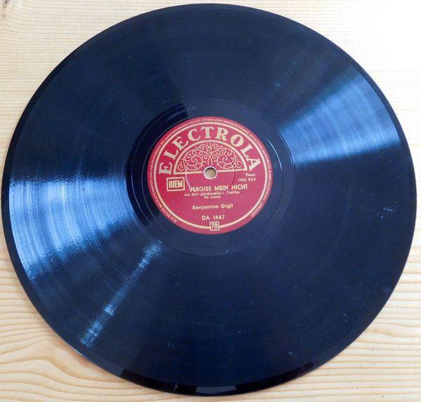alte Schellackplatte - Rarität