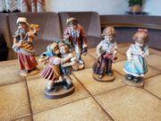 5 Holzfiguren Holzgeschnitzt
