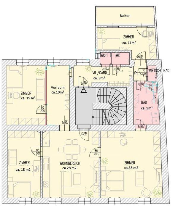 WG taugliche 142m2 5 Zimmer
