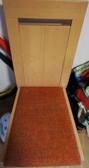 2 Stühle Holz mit Bezug