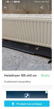 Heizkörper 125x40cm