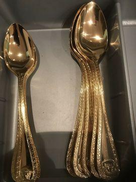 Besteck Versace Medusa 14g vergoldet: Kleinanzeigen aus Aachen Richterich - Rubrik Geschirr und Besteck