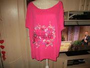 neu t-shirt pink blumenmuster grösse
